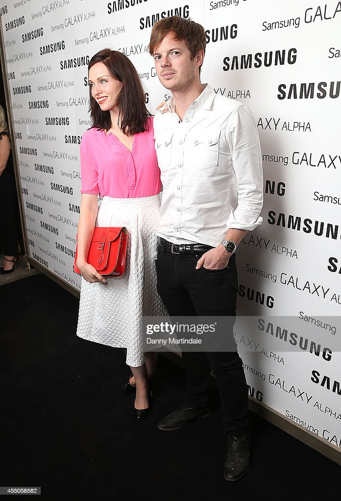 Sophie Ellis Bextor and husband Richard Jones attend the Samsung Galaxy Alpha Launch party at The Collection on September 9, 2014 in London, England.