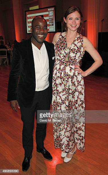 Sophie Ellis Bextor and Melvin Odoom attend a fundraising event in aid of the Nepal Youth Foundation hosted by David Walliams at Banqueting House on...