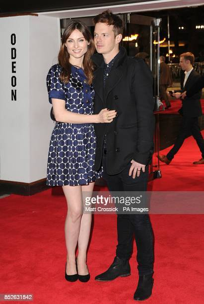 Sophie Ellis Bextor and Richard Jones arriving for the World Premiere of The Hunger Games Catching Fire at the Odeon Leicester Square London