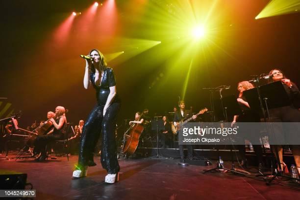 Sophie Ellis Bextor and Richard Jones peform at The Royal Festival Hall on October 3 2018 in London England