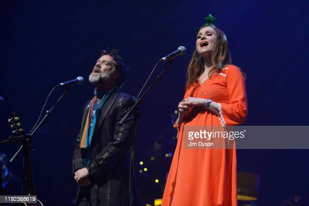 Sophie Ellis Bextor and Rufus Wainwright perform live on stage during Rufus Martha Wainwright's 'A Not So Silent Night'at The Royal Festival Hall on...