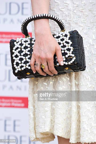 Sophie Ellis Bextor attends the launch party for the Fashion Rules exhibition a collection of dresses worn by HRH Queen Elizabeth II Princess...
