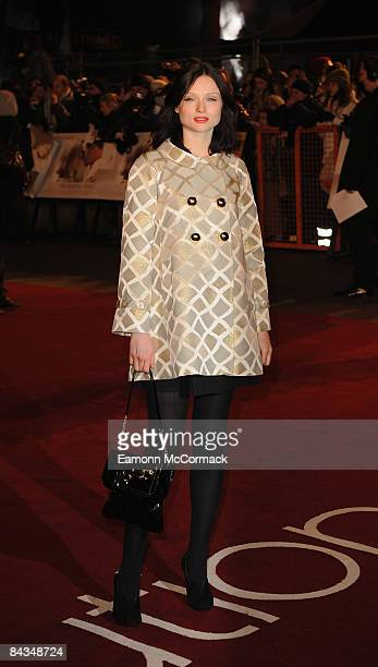 Sophie Ellis bextor attends the UK premiere of 'Revolutionary Road' at Odeon Leicester Square on January 18 2009 in London England