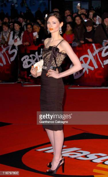 Sophie Ellis Bextor during The Mastercard Brit Awards 2007 Outside Arrivals at Earls Court in London Great Britain