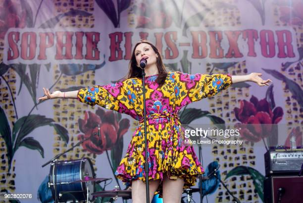 Sophie Ellis Bextor performs at Bath Recreation Ground on May 26 2018 in Bath England