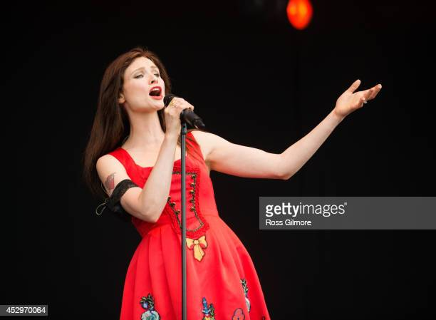 Sophie Ellis Bextor performs on stage at T In The Park Festival at Balado on July 12 2014 in Kinross United Kingdom