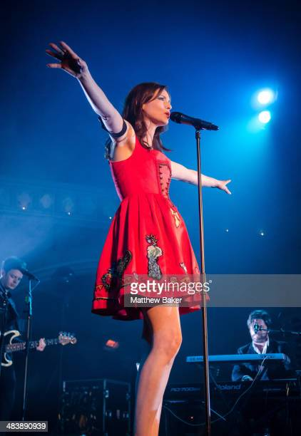 Sophie Ellis Bextor performs on stage at the Union Chapel on April 10 2014 in London United Kingdom