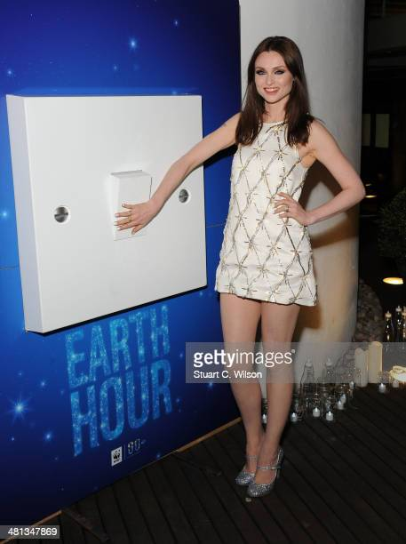 Sophie Ellis Bextor prior to performing by candlelight for the WWF Earth Hour at Southbank Centre on March 29, 2014 in London, England.