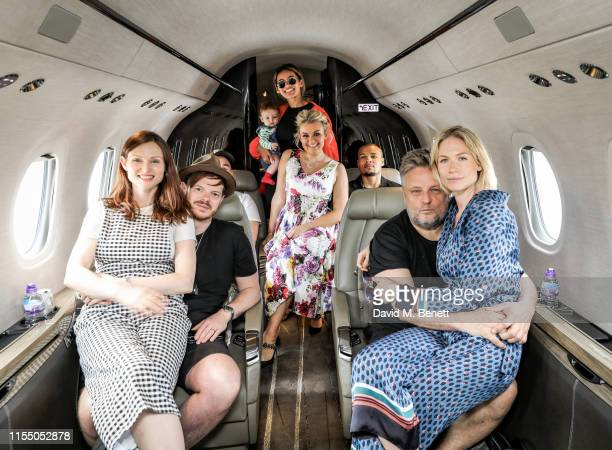 Sophie Ellis Bextor Richard Jones Montana Brown Chris Eubank Jr Tallia Storm Rankin and Tuuli Shipster on the way to the MMG Jersey Style Awards...