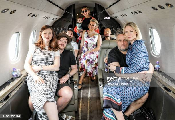 Sophie Ellis Bextor Richard JonesStefan Wesson Montana Brown Chris Eubank Jr Tallia Storm Rankin and Tuuli Shipster on the way to the MMG Jersey...