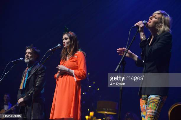 Sophie Ellis Bextor Rufus Wainwright and Martha Wainwright perform live on stage during Rufus Martha Wainwright's 'A Not So Silent Night'at The Royal...
