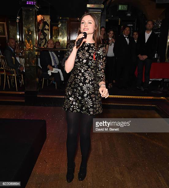 Sophie EllisBexter performs as mothers2mothers celebrates 15 years of Wonder Women at Annabel's on November 9 2016 in London England