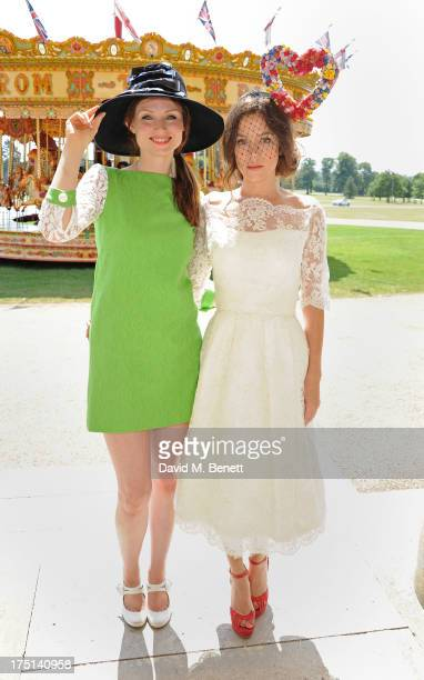 Sophie EllisBextor and Anna Friel attend Ladies Day hosted by Audi at Glorious Goodwood held at Goodwood Racecourse on August 1 2013 in Chichester...
