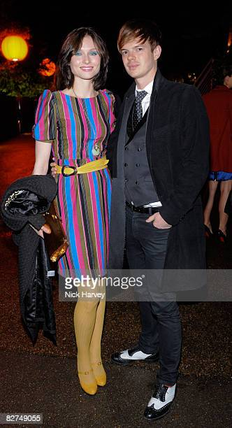 Sophie EllisBextor and her husband Richard Jones attend the summer party at The Serpentine Gallery on September 9 2008 in London England