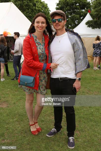 Sophie EllisBextor and Richard Jones attend Mighty Hoopla 2017 at Victoria Park on June 4 2017 in London England