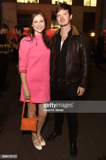 Sophie EllisBextor and Richard Jones attend the Conde Nast Traveller 20th anniversary party at Vogue House on October 9 2017 in London England