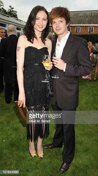 Sophie EllisBextor and Richard Jones attend the Raisa Gorbachev Foundation Party at Stud House Hampton Court Palace on June 5 2010 in Richmond upon...