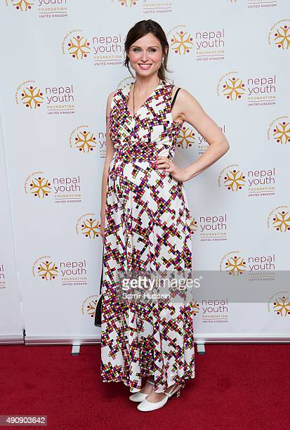 Sophie EllisBextor attends a fundraising event in aid of the Nepal Youth Foundation at Banqueting House on October 1 2015 in London England