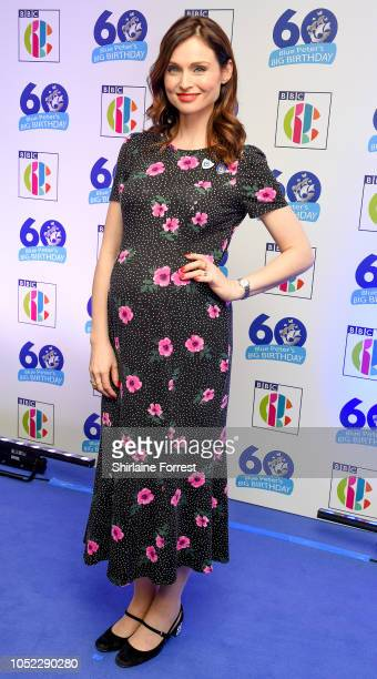 Sophie EllisBextor attends the 'Blue Peter Big Birthday' celebration at BBC Philharmonic Studio on October 16 2018 in Manchester England