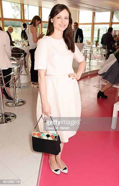 Sophie EllisBextor attends the evian Live Young suite on the opening day of Wimbledon at the All England Lawn Tennis and Croquet Club on June 23 2014...