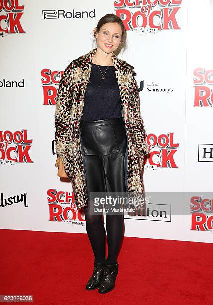 Sophie EllisBextor attends the opening night of 'School Of Rock The Musical' at The New London Theatre Drury Lane on November 14 2016 in London...
