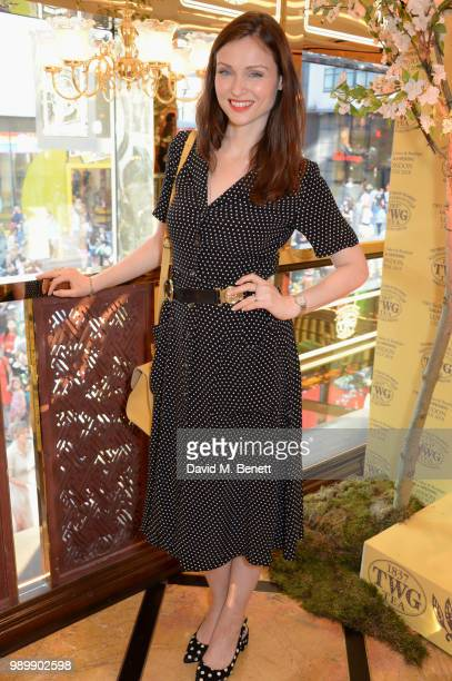 Sophie EllisBextor attends the TWG Tea Gala Event in Leicester Square to celebrate the launch of TWG Tea in the UK on July 2 2018 in London England
