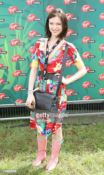 Sophie EllisBextor in the Virgin Mobile Louder Lounge at the V Festival at the Chelmsford in United Kingdom