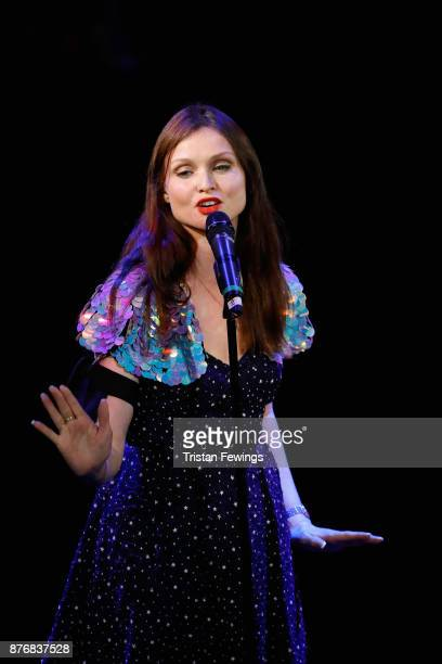Sophie EllisBextor performs at the annual National Youth Theatre national fundraiser at Cafe de Paris on November 20 2017 in London England