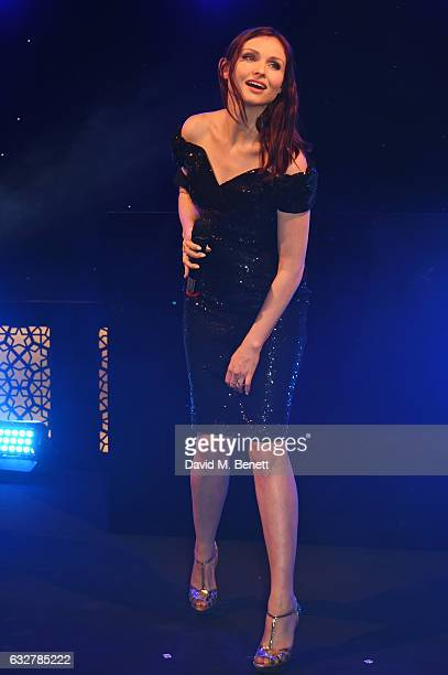 Sophie EllisBextor performs at the launch of new luxury hotel The LaLit London on January 26 2017 in London England