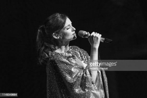 Sophie Ellis-Bextor performs on stage at Usher Hall on June 11, 2019 in Edinburgh, Scotland.