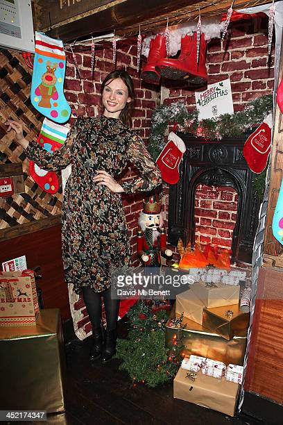 Sophie EllisBextor switches on the Christmas lights at Mahiki London on November 26 2013 in London England
