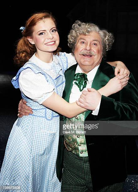 Sophie Evans and Russell Grant pose backstage as Russell Grant joins the West End cast of 'The Wizard of Oz' at London Palladium on February 14 2012...