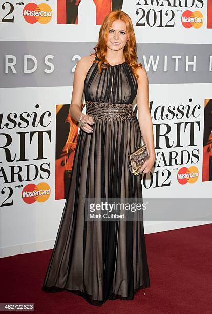 Sophie Evans attends the Classic Brit Awards 2012 at Royal Albert Hall on October 2 2012 in London United Kingdom