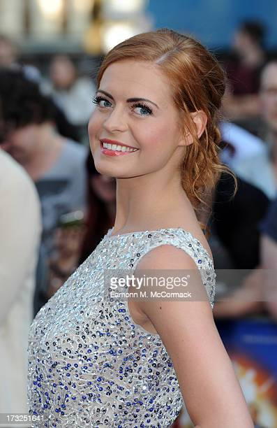 Sophie Evans attends the World Premiere of 'The World's End' at Empire Leicester Square on July 10 2013 in London England