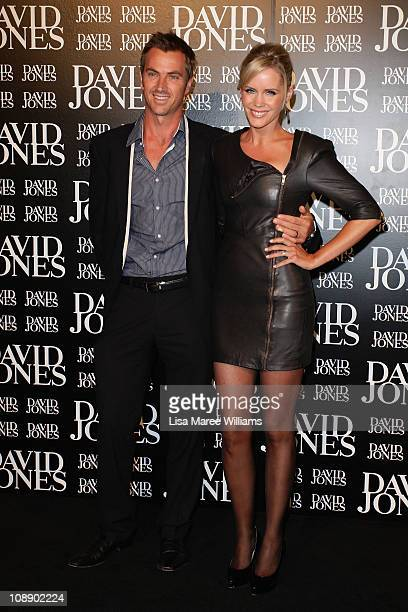 Sophie Falkiner and husband Tony Thomas arrive at the David Jones Autumn/Winter 2011 season launch at the David Jones Elizabeth Street Store on...
