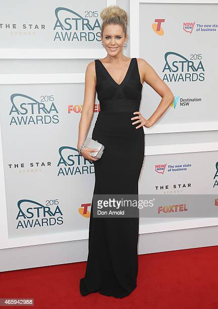 Sophie Falkiner arrives at the 2015 ASTRA Awards at the Star on March 12 2015 in Sydney Australia