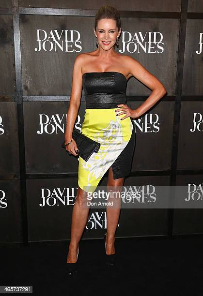 Sophie Falkiner arrives at the David Jones A/W 2014 Collection Launch at the David Jones Elizabeth Street Store on January 29 2014 in Sydney Australia