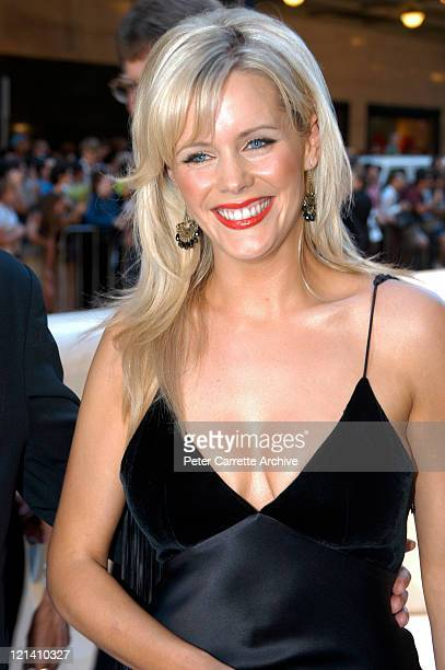 Sophie Falkiner arrives for the Australian premiere of the film 'Cold Mountain' at the State Theatre on December 17 2003 in Sydney Australia