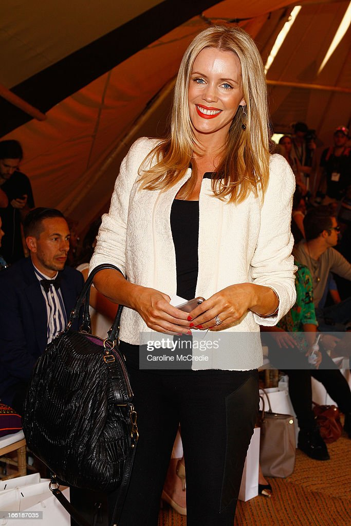 Sophie Falkiner attends the Camilla show during Mercedes-Benz Fashion Week Australia Spring/Summer 2013/14 at Centennial Park on April 10, 2013 in Sydney, Australia.