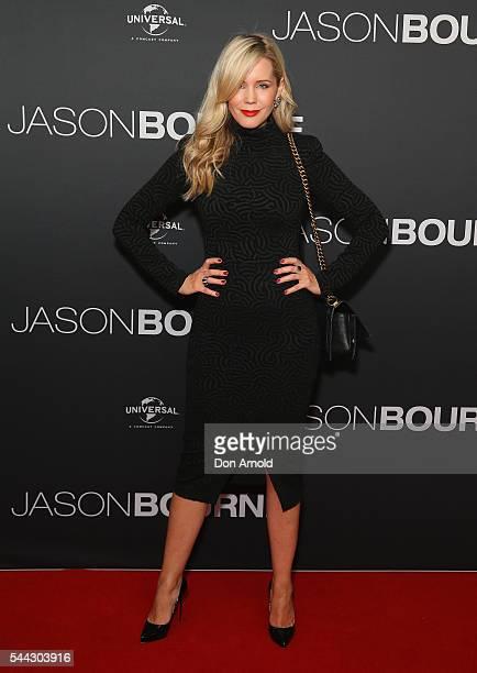 Sophie Faulkiner arrives ahead of the Jason Bourne Australian Premiere at Hoyts Entertainment Quarter on July 3 2016 in Sydney Australia