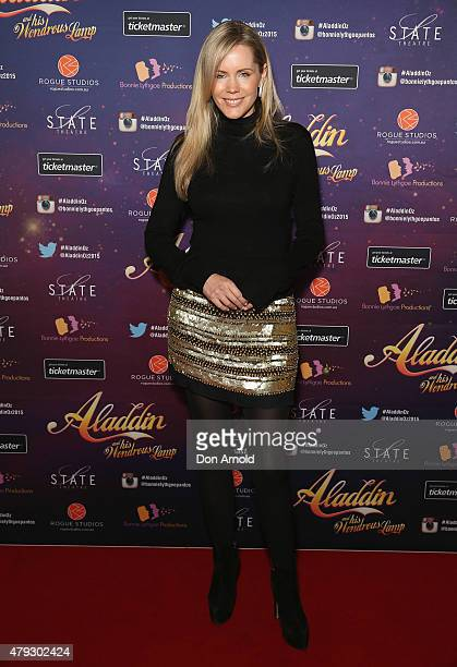Sophie Faulkiner arrives at Aladdin And His Wondrous Lamp opening night at the State Theatre on July 3 2015 in Sydney Australia