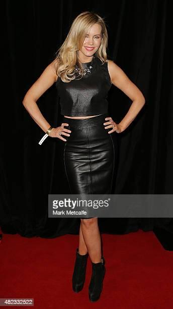 Sophie Faulkiner arrives at Nova's Red Room Global Tour at The Star on July 30 2015 in Sydney Australia