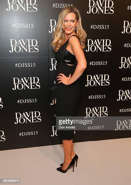 Sophie Faulkiner arrives at the David Jones Spring/Summer 2015 Fashion Launch on August 5 2015 in Sydney Australia