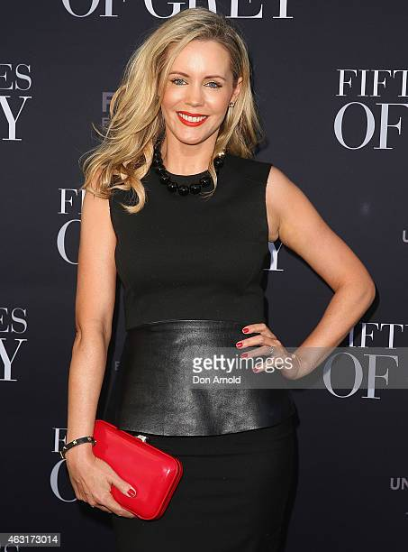 Sophie Faulkiner arrives at the Fifty Shades of Grey screening at the Entertainment Quarter on February 11 2015 in Sydney Australia