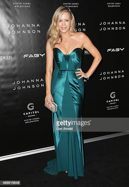 Sophie Faulkiner arrives at the Johanna Johnson Presented By Capitol Grand show at MercedesBenz Fashion Week Australia 2015 at Carriageworks on April...