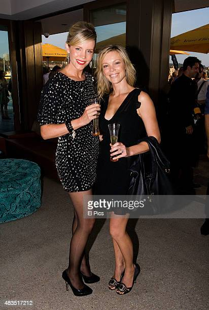 Sophie Faulkner and Holly Brisley attend the Australia Day party in Many on the 25th of January 2011 in Sydney Australia