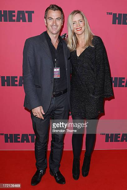 Sophie Faulkner and Tony Thomas arrives at 'The Heat' Australian Premiere at Event Cinemas on July 2 2013 in Sydney Australia