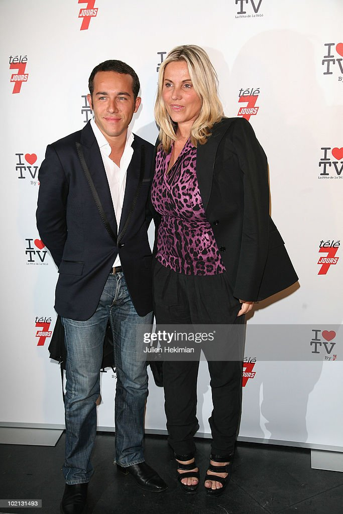 Sophie Favier and her husband attend the 1st edition of 'La Fete de la Tele' at Le Showcase on June 15, 2010 in Paris, France.