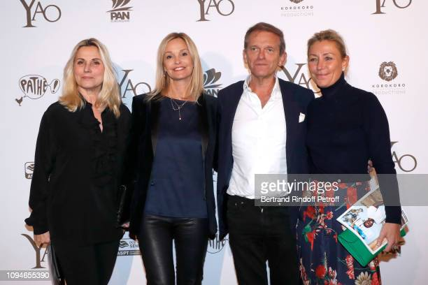 Sophie Favier Claire Duroc Danner Doctor Frederic Saldmann and his wife Marie Saldmann attend the YAO Paris Premiere at Le Grand Rex on January 15...
