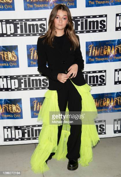 Sophie Fergi arrives at The Artists Project Hosts Portraits For The Premiere of Timecrafters on November 17 2020 in Los Angeles California